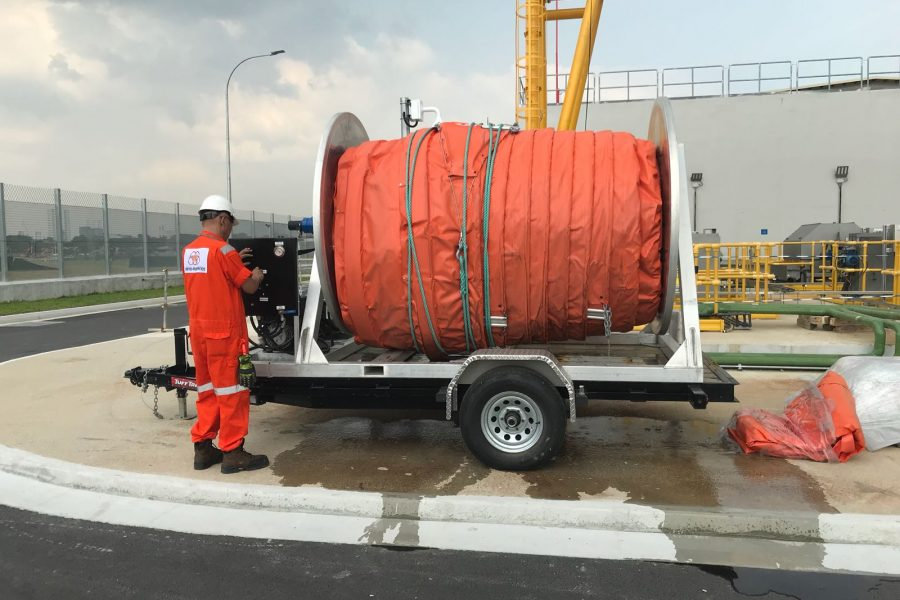 Supply and Commissioning of Inshore Oil Containment Boom + Hydraulic Boom Reel System for PUB Tuas Desalination Plant 3