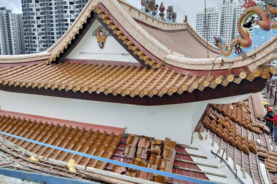Design, Installation & Commissioning of Latchways Engineered Fall Protection System for New Build Temple