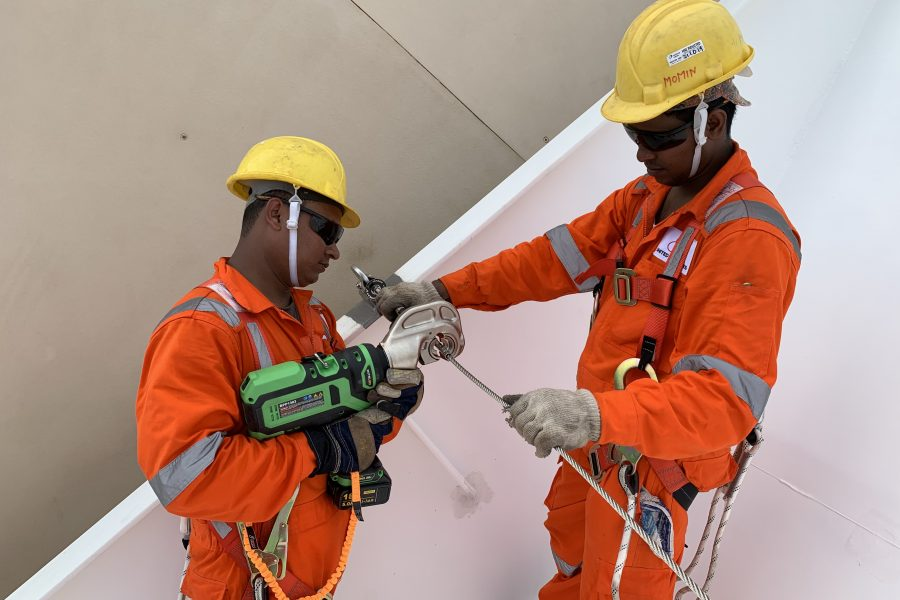 Design and Installation of Fall Protection Engineered Systems for Royal Caribbean International